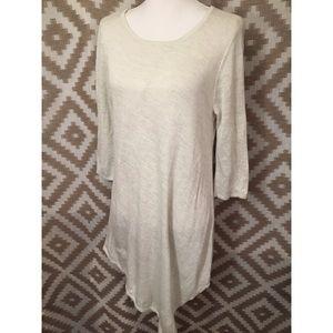 White House Black Market Cream Sweater Dress